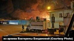 Пожар в колонии №15 Ангарска