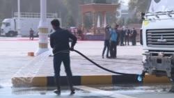 Таджикистан готовится к инаугурации Рахмона: в Душанбе сажают цветы и обновляют разметку