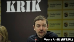 Investigative journalist Stevan Dojcinovic is the editor in chief of the Crime and Corruption Investigations Network (KRIK), a major Serbian news outlet. (file photo)