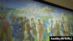 Казан дәүләт мәдәният һәм сәнгать университеты диварларын бизәүче тарихи рәсем