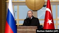 Російський президент Володимир Путін в Анкарі, 3 квітня 2018 року