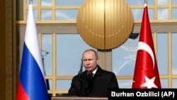 Рускиот претседател Владимир Путин за време на посетата на Турција, Анкара, 03.04.2018.