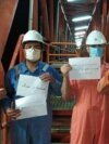 Iranian oil industry workers strike