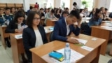 Kazakhstan - Graduates are taking the United national testing exam at Agro-technical university named after Saken Seifullin in Astana. 20June2018