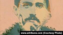 Andy Warhol-un çəkdiyi Marcel Proust portreti. 1974