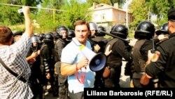 """Constantin Codreanu la una din demonstrațiile """"Acțiunii 2012"""""""