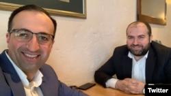 Səhiyyə naziri Arsen Torosian (solda) və Ətraf mühit naziri Erik Grigorian