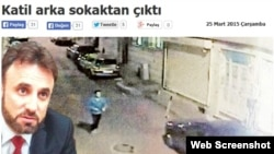 Сообщение об убийстве Кувватова в одной из турецких газет