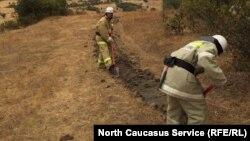 Лесные пожары в Дагестане