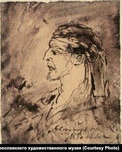 Михаил Соколов. Автопортрет. 1943 г.