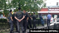 Поліція готується до мітингу опозиції в Москві, 26 липня 2012 року
