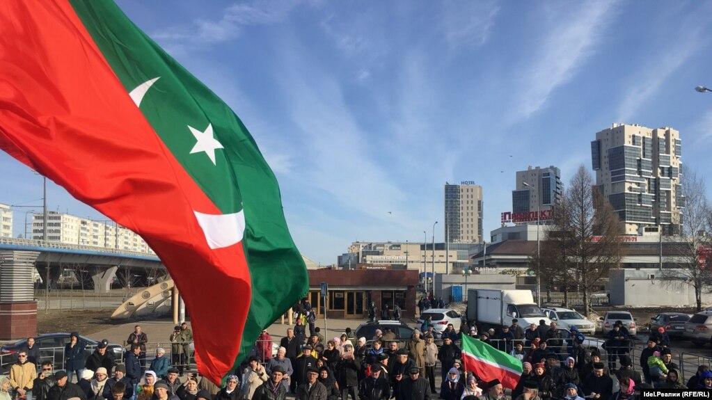 Митинг, посвященный 105-летию со дня кончины Габдуллы Тукая 15 апреля 2018 года