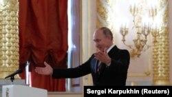 Vladimir Putin Kremldə tədbirdə, 11 oktyabr, 2018-ci il