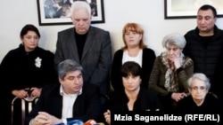 Пресс-конференция членов семьи Зураба Жвания. Тбилиси, 26 марта 2014 года
