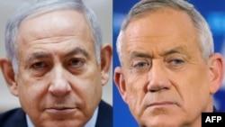 Биньямин Нетаньяху менен Бенни Ганц.