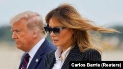 Donald és Melania Trump Ohióban 2020. szeptember 29-én