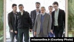 Tehran prosecutor Abbas Jafari Dolatabadi (3rd R). File photo