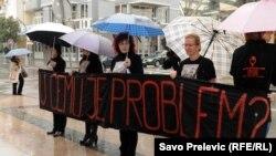 Crnogorski ženski lobi, protest na Međunarodni dan žena, 8.3.2013.