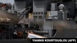 """На снимке: большой противолодочный корабль """"Адмирал Пантелеев"""""""