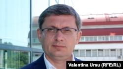 Liderul interimar PAS, Igor Grosu în redacția Europei Libere, Chișinău, iunie 2021.