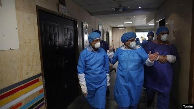 بخش ویژه کرونا در بیمارستان شهدای خلیج فارس در بوشهر