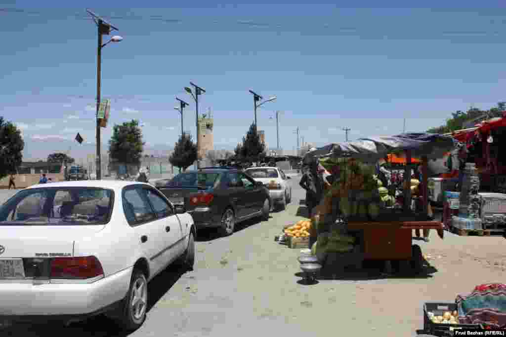 Bagram Bazaar is located just outside the base. Customers can buy groceries as well as goods smuggled from Bagram Airfield.