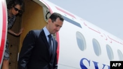 The Syrian president arrives in Baku