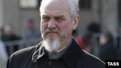 "Russia -- Historian Andrei Zubov takes part in an opposition rally dubbed ""The Truth March"", to defend the freedom of speech and support Russian independent media, in Moscow, April 13, 2014"