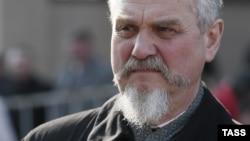 """Профессор Андрей Зубов на оппозиционной акции """"Марш правды"""" 13 апреля 2014 года."""