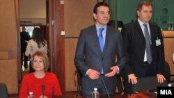 Деветти состанок на Советот за стабилизација и асоцијација меѓу Македонија и ЕУ Брисел, Белгија. Теута Арифи, Никола Попоски.