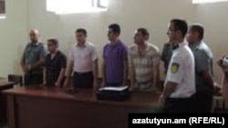 Nagorno-Karabakh - A court in Stepanakert sentences two men to 11 and 10 years in prison on charges of spying for Azerbaijan, 23Jul2013.