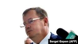 آندری راوکوف، رئیس شورای امنیت بلاروس، در کنفرانس خبری روز گذشته درباره بازداشت « ۳۲ مزدور نظامی روسی»