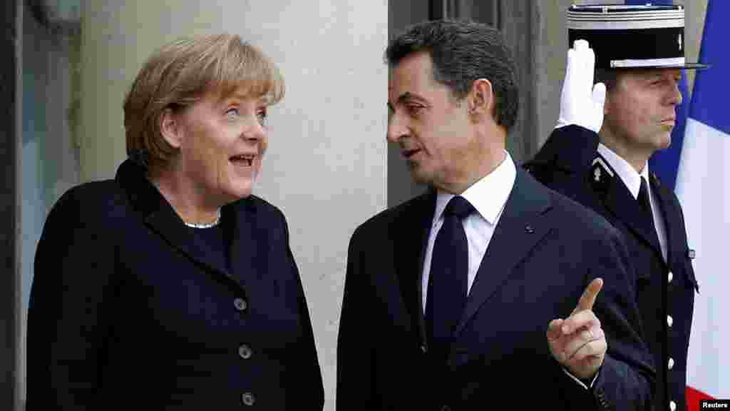 Ну, ты, даешь! (Встреча канцлера ФРГ и президента Франции в Париже для обсуждения проблем еврозоны, 05.12.2011).