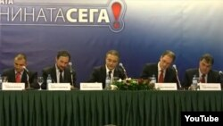 Опозициските лидери го потпишува договорот за коалиција на 23 октомври 2012 година.
