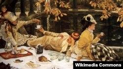 Джэймс Цісо, «Пікнік» (1876).
