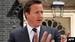 Ұлыбритания премьер-министрі Дэвид Кэмерон. Лондон, 10 тамыз 2011 жыл.