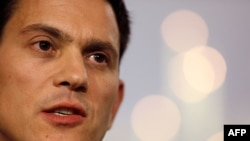 Former British Foreign Minister David Miliband is trying to build support for a UN-managed mediation effort to end the war.