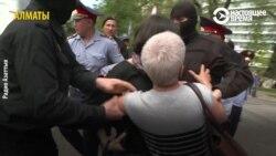 В Казахстане на акциях в поддержку политзаключенных задержали десятки людей