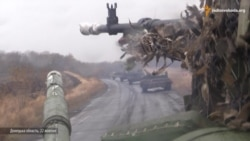 Ukrainian Tanks Leave The Front Line