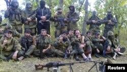 Группы исламистских боевиков в лесу в Дагестане. Иллюстративное фото.
