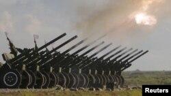 Российское оружие на церемонии открытия военного форума в Московской области. 16 июня 2015 года.