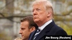 Presidentët e SHBA-së dhe Francës, Donald Trump dhe Emmanuel Macron.