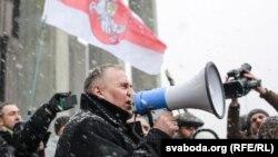 Пратэст прадпрымальнікаў 28 лютага, Кастрычніцкая плошча, Менск.