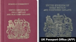 Паспорт Великобритании в ЕС (слева) и вне его (справа).