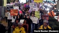 Од протестите во САД против новоизбраниот претседател Доналд Трамп