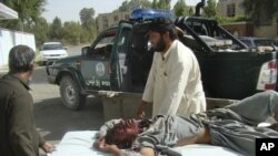 یکی از مجروحان حوادث روز پنجشنبه در ارزگان