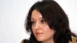 """Vzglyad"" deputy editor Olesya Shchelkova says the publication appeared as a brochure with a changed title in order to avoid a lawsuit."