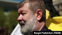 Вячеслав Мальцев во время выступления оппозиции в Москве 6 мая 2017 года