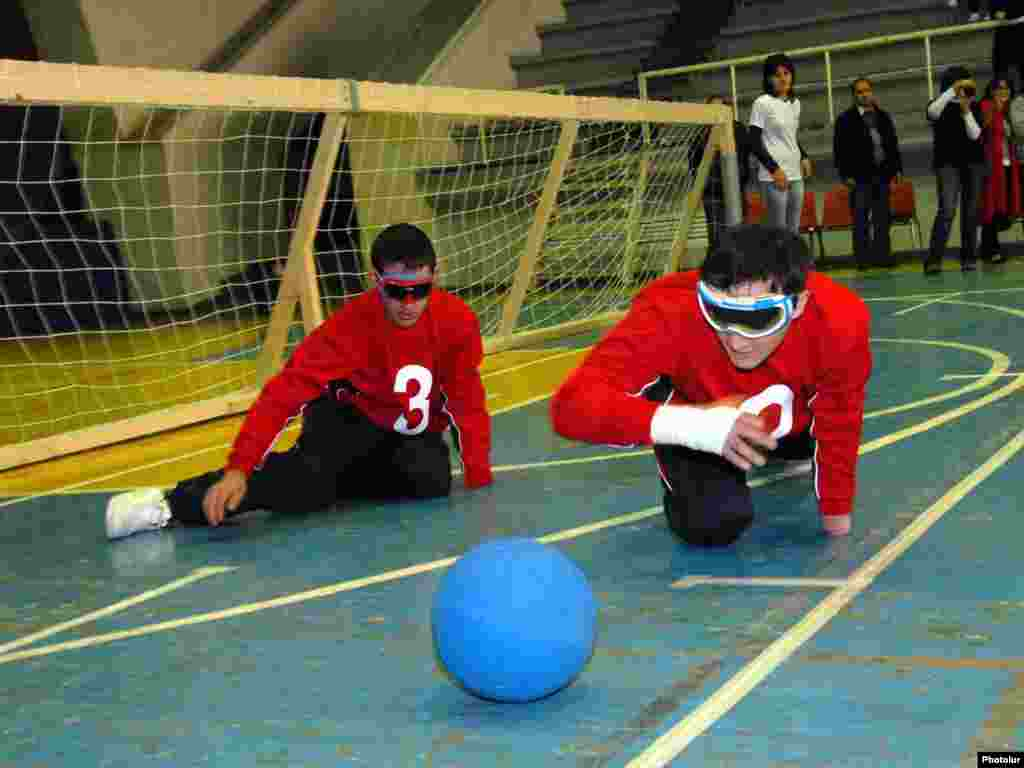 Disabled athletes in Armenia play goalball, a sport created for blind players. - Photo by Photolur
