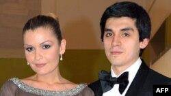 Младшая дочь президента Узбекистана Ислама Каримова Лола Каримова-Тилляева (слева) и ее муж Тимур Тилляев.